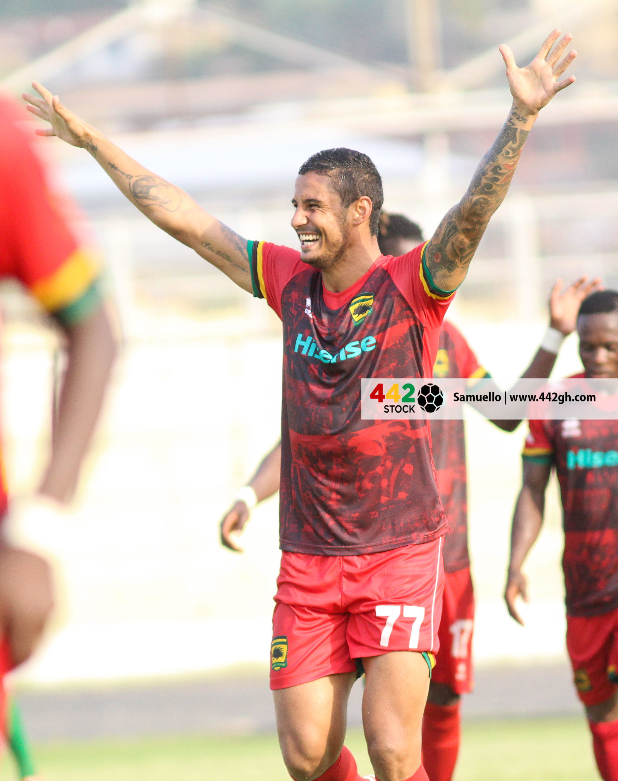 IMG 7483 scaled - PICTURE SPECIAL: Michael Vinicius' First Appearance In A Kotoko Shirt Against Bechem United