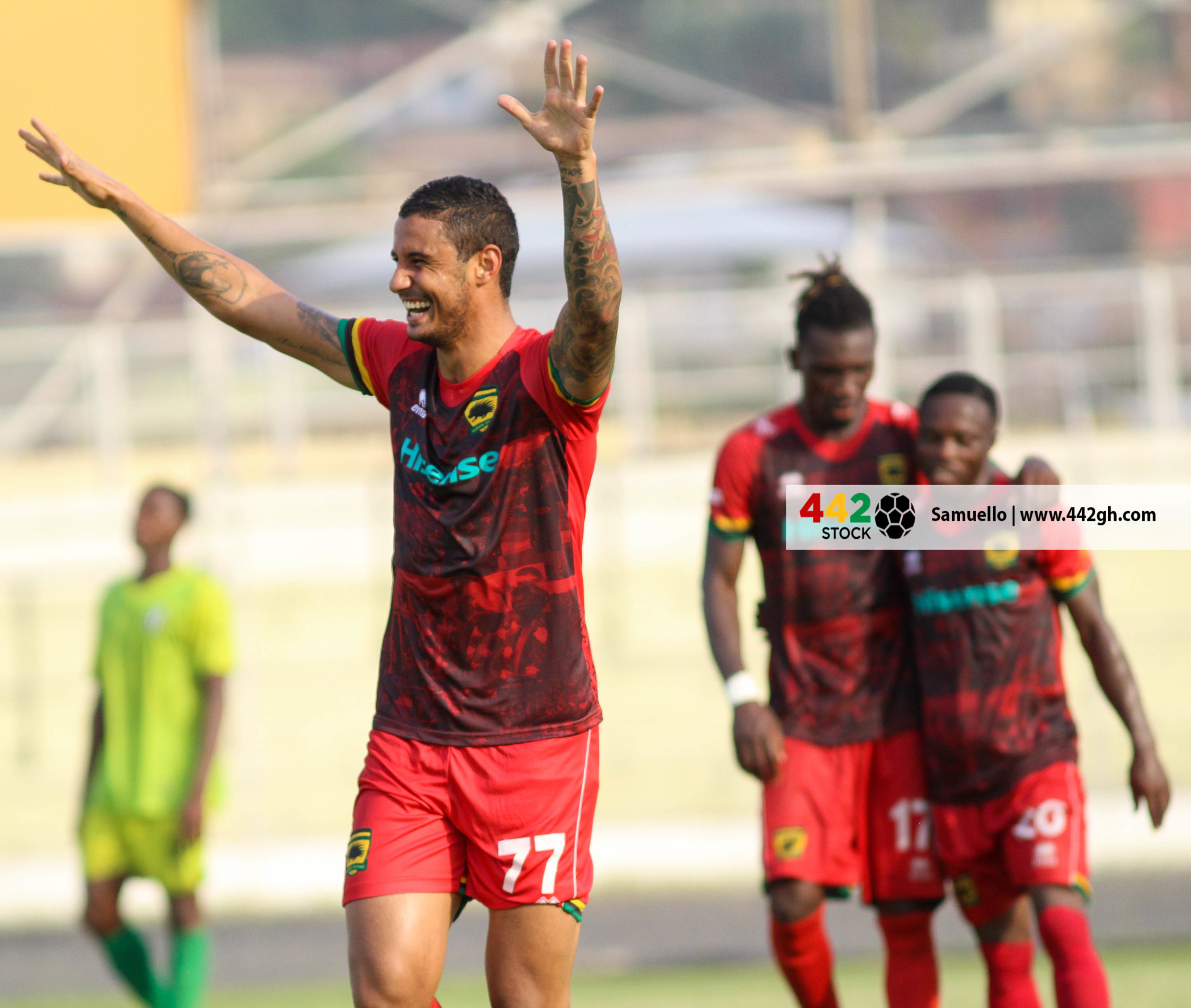 IMG 7485 scaled - PICTURE SPECIAL: Michael Vinicius' First Appearance In A Kotoko Shirt Against Bechem United